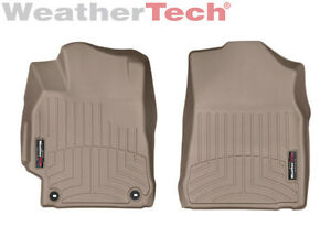 Weathertech Floorliner Floor Mats For Toyota Camry 2015 2017 1st Row Tan