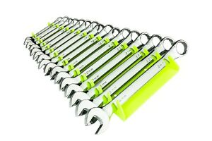 Ernst 5162hv Wrench Organizer Tray Holds 16 Wrench Hi viz Yellow Reverse Facing