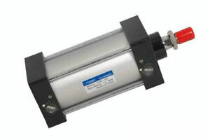 50mm Bore 175mm Stroke Screwed Piston Rod Dual Action Pneumatic Air Cylinder