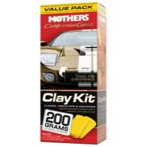 California Gold Clay Bar System Includes 2 Bars 16 Oz Instant Detailer And Mic