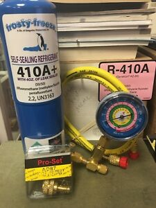 R410 R410a R 410 R 410a Refrigerant With Self sealing Leak Stop Kit