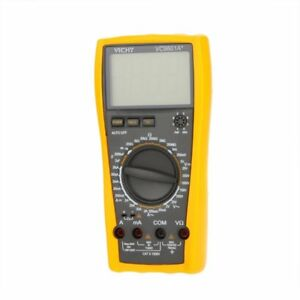 Vc9801a Digital Multimeter Dmm Ac dc W capacitance Hfe Test Lcd Backlight