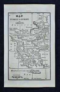 1830 Nathan Hale Map Turkey In Europe Greece Athens Constantinople Balkans
