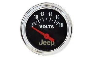Auto Meter 880242 Air Core 8 18v Voltmeter 2 1 16 Gauge For All Jeeps
