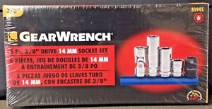 Gearwrench 80945 5 Piece 3 8 Drive 6 Point 14mm Socket Set