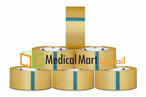 72 Rolls Clear Carton Sealing Tape Packing Package Box 2 5 Mil 3 x110 Yds 330 Ft