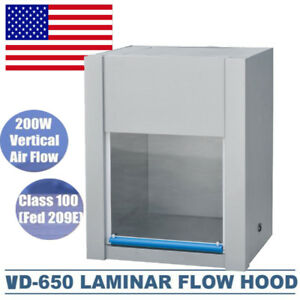 Pro Vertical Ventilation Laminar Flow Hood Air Flow Clean Bench Workstation Usa
