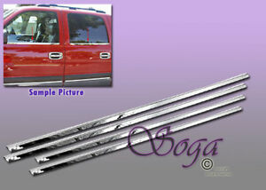 For 2000 2006 Chevy Tahoe Suburban Chrome Stainless Steel Window Sill Sills Trim
