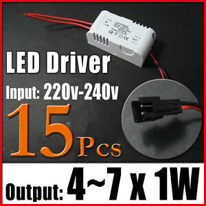 15 4 7x1w Led Power Driver Light Constant Current Regulated Transformer 220 240v