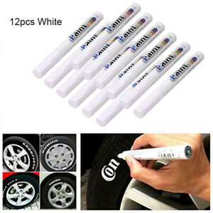 12pcs White Waterproof Permanent Car Tyre Tire Tread Paint Marker Pen Tire Pen