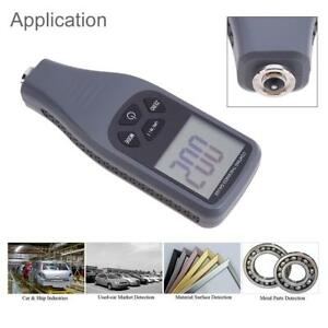 Lcd Digital Paint Coating Thickness Car Tester Measure Gauge Meter 1300um F