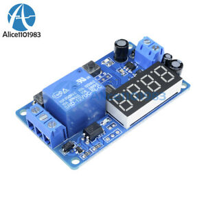 Dc12v Led Display Digital Delay Relay Timer Control Switch Module Plc Automation