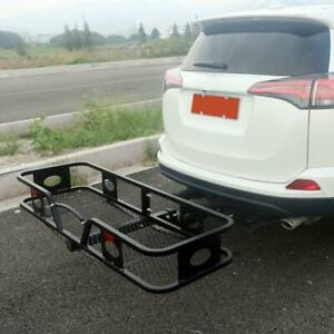 500lbs Cargo Carrier Luggage Basket Receiver 2 hitch Black