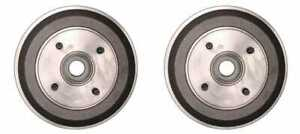New Pair Set Of 2 Premium Rear Brake Drums Fits Left And Right Side