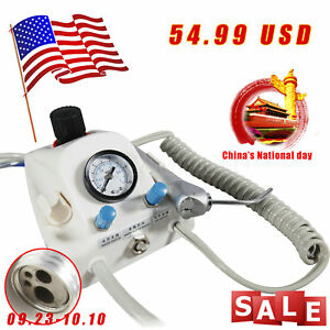 Dental Portable Air Turbine Unit 4 Hole Tube Work With Air Compressor National p