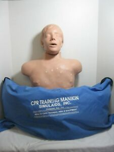 Simulaids Cpr Brad Manikin Torso Traveling Carry Bag Nursing Emt Training