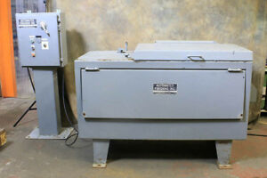 5 Cu Ft Automated Finishing Av 5 Vibratory Finisher Tub Size 15 f b X 36 l r