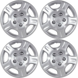 Hubcaps Fits 14 17 Kia Forte 15 Inch Silver Replacement Wheel Cover Rim