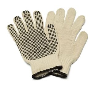 Single Side Pvc Black Dots Gloves Excellent Grip 72 Pairs Men