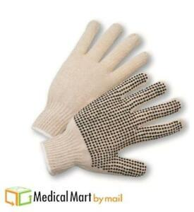 Single Side Pvc Black Dots Gloves Excellent Grip 132 Pairs Men
