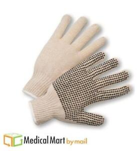 Single Side Pvc Black Dots Gloves Excellent Grip 180 Pairs Men