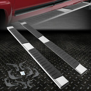 For 2007 2019 Silverado sierra Crew Cab Pair 6 Chrome Running Board Step Bar