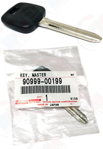 Genuine Oem Toyota Master Key Blank Uncut Factory Spare 90999 00199 8 a5 4