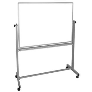 Luxor Mb4836ww 48 X 36 inch Reversible Magnetic Dry Erase Easel Whiteboard