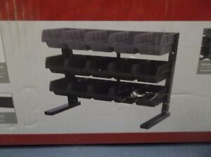 Husky 15 Parts Bins Storage Shelf Hobby Tool Rack Warehouse Garage Organizer New