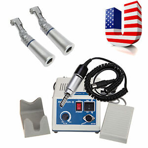 35krpm Marathon Lab Micromotor Electric 2 Slow Contra Angle Handpiece Fit Nsk