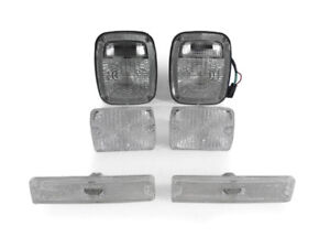 Clear Tail Front Bumper Side Marker Lights For 1987 1993 Jeep Yj Wrangler