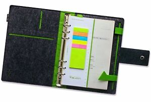 Fashion A5 Felt Notebook Loose leaf Spiral Writing Notebook Business Style With