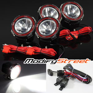 4pc 4 Inch Hid Offroad Driving Flood Lights Work Search Outdoor Lamps Switch