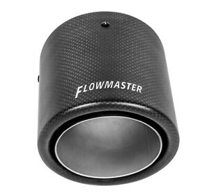 Flowmaster 15401 Universal Carbon Fiber Exhaust Tip Accessory For 3 0 Tubing
