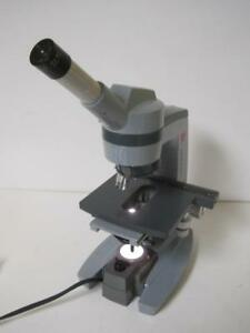 Spencer American Optical Monocular Lighted Lab Microscope W objectives 10x 45x