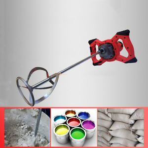 220v Electric Mortar Mixer 2100w Dual High Low Gear 6 Speed Paint Cement Grout