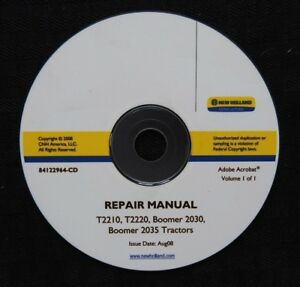 Genuine New Holland T2210 T2220 Boomer 2030 2035 Tractor Repair Service Manual