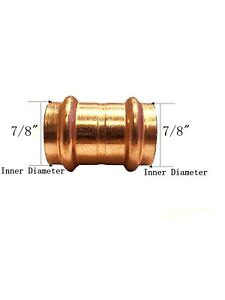 Libra Supply Lead Free 3 4 Inch 3 4 Copper Press Coupling With Stop 10pcs