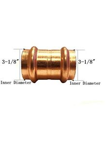 Libra Supply Lead Free 3 Inch 3 Copper Press Coupling With Stop Fittings