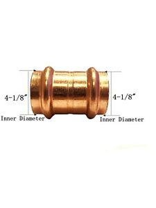 Libra Supply Lead Free 4 Inch 4 Copper Press Coupling With Stop Fittings