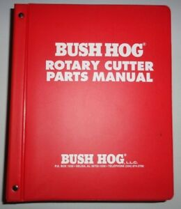 Bush Hog Rotary Cutter Disc Mower Master Parts Catalog Manual Over 70 Models