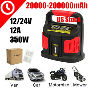 350w 200a 12v 24v Lcd Auto Car Battery Charger Power Bank Jump Starter Portablea