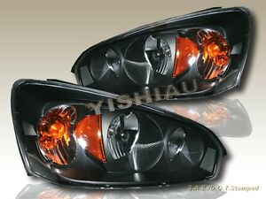 2004 2007 Chevrolet Malibu Black Headlights 2005 2006 04 05 06 07