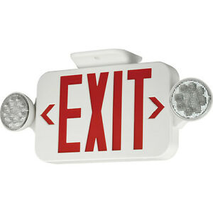 Exit Sign Progress Lighting Led Red Letters Emergency Lights Pe010 30 New