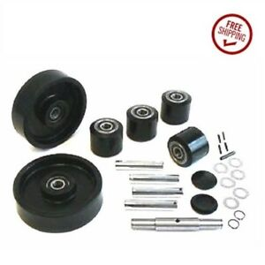 Universal Pallet Jack Wheel Kit 725 x2 Steer Wheel 4 3 x25 Load Wheel