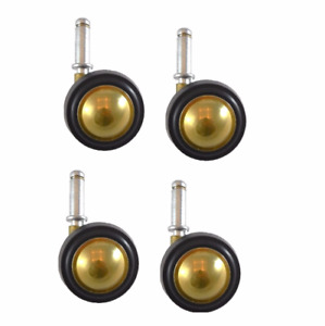 Shepherd Brass Finish Soft Tread Swivel Ball Casters And 7 16 X 1 7 16 Grip R