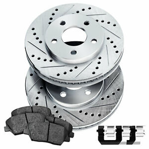 Fit 1974 1975 Toyota Mark Ii Front Psport Drill Slot Brake Rotors ceramic Pads