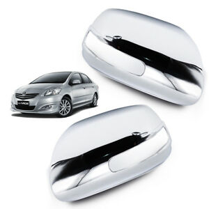 Wing Side Mirror Cover Chrome For Toyota Yaris Vios Camry Altis 2007 2011
