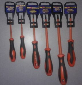Atd Tools Lot Of 6 Insulated Screwdrivers