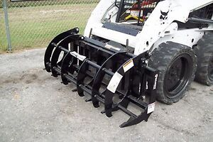 Compact Tractor 72 Brush Grapple W skid Steer Mount Plate bradco 448 Lbs